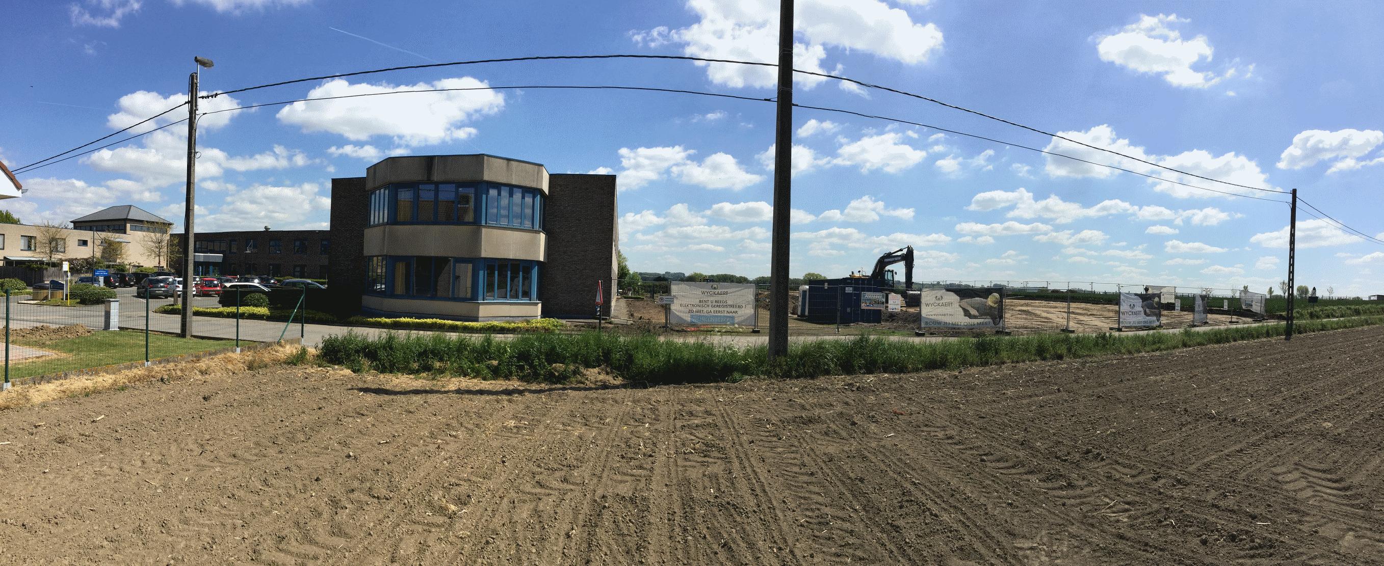 start van de bouwwerken